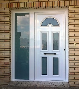 Puertas metalicas con vidrio for Puertas de entrada con vidrio